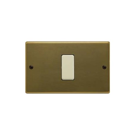 PLACCA TIPO MAGIC BRONZO VITI 1 POSTO+SCHUKO