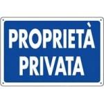 CARTELLI PROPRIETA' PRIVATA 30X20