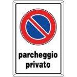 CARTELLI PARCHEGGIO PRIVATO 30X20