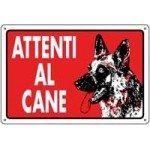 CARTELLI ATTENTI AL CANE 30X20